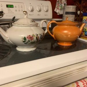 Two Teapots. Winterberry and Steubenville China